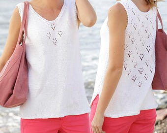 Summer sleeveless top with lace