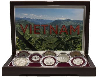 Vietnam An 8-Coin Collection, historical unique collectibles south east Asia, certified coins