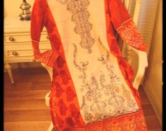 Gorgeous Orange Saree