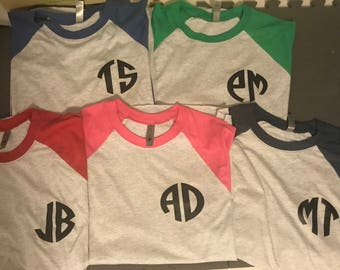 Personalized Raglan T-shirts