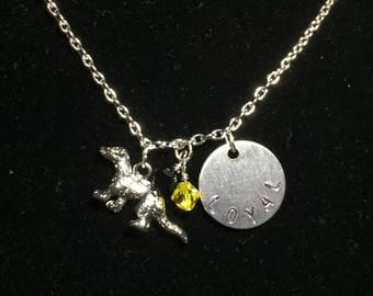 Hufflepuff Inspired Charm Necklace