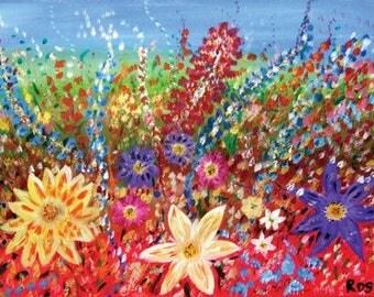 Field of flowers print