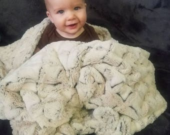 Minky child blanket. Plush minky baby blanket. Fur minky fabric. Double sided minky.  Luxe cuddle minky. Shannon minky. Textured blanket.