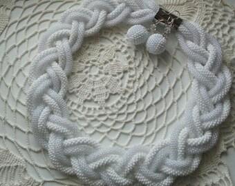 White necklace  Snow Queen