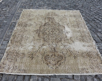 Nomadic rug, Free Shipping handmade turkish rug 5.6 x 6.9 ft. handknotted area rug, bohemian rug, anatolian floor rug, oushak rug, MB455