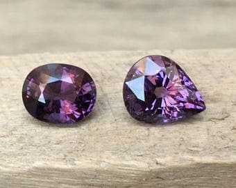 2.60 Carates Beautiful Faceted Purple Color Spinel From Burma With Beautiful Color and Luster.