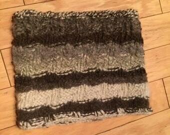 Handmade Homespun Wool Knit Neck Gaiter