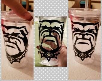 Georgia Bulldogs 16oz travel mug