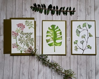 Set of 3 cards vegetation