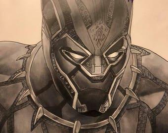 Black Panther custom art print marvel
