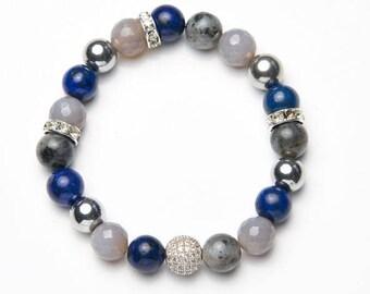 Mens-Women's Bracelet * sparkling gray */mens-Womens Bracelet * sparkling Gray *