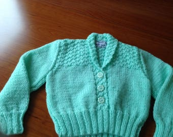 "Cardigan for 9-12 month baby size  approx 20"" chest"