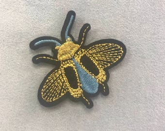 Patch blue bug.Patch iron on