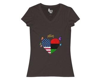 Ptbm VNeck Tee  UsaAfro American