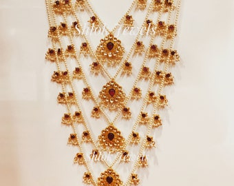 Indian kundan Rani haar (available in 7 lines, 5 lines or 3 lines)