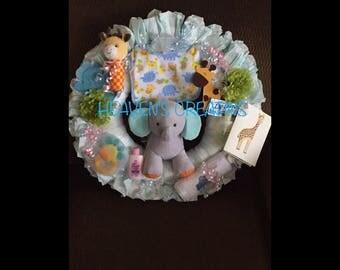 Elephant Diaper Wreath