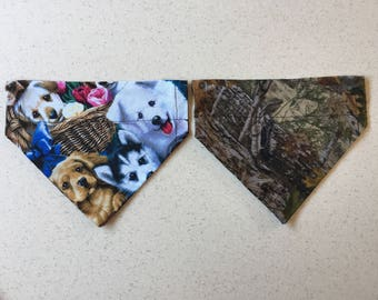 Reversible Dog Collar Bandana