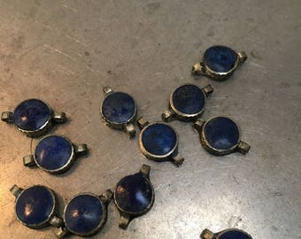 Lapis double ended beads