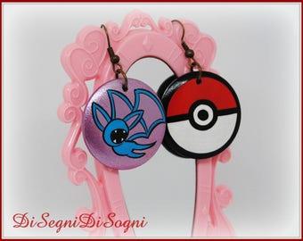 Pokemon ZUBAT Earrings-hand Painted