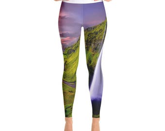 Yoga Leggings - Waterfall