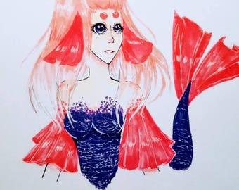Cora The mermaid.