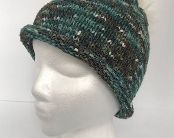 Nancy's Rolled Hem Knitted Hat