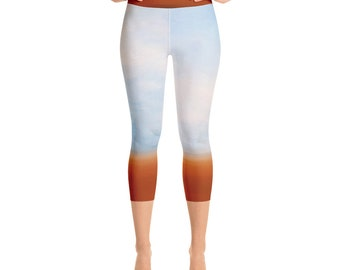 Calm Serenity: Naturally Me Yoga Capri Leggings