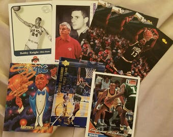 Eight basketball cards