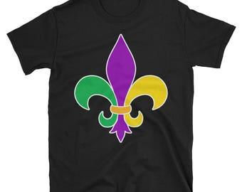 Fleur De Lis Mardi Gras Tshirt for Women Men