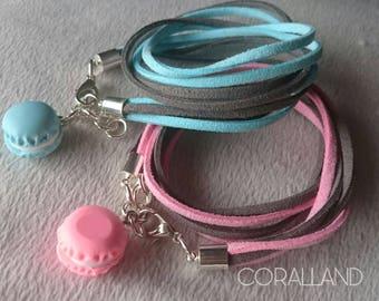 Handmade bracelets,Woman bracelets,thread string rope,Macaron Charms,bracelet with extension chains, Cord Adjustable bracelets,gift
