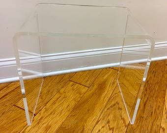 "Lucite Nesting Table 16""x 16""x 12"""