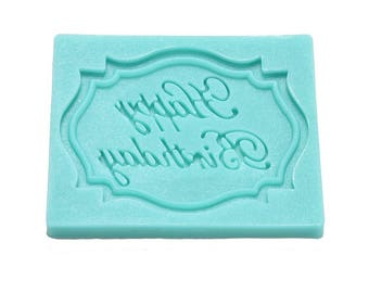 Reusable Happy Birthday Silicone Fondant Mold Decorating Chocolate Baking Molds