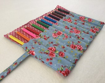 Floral Pencil Roll