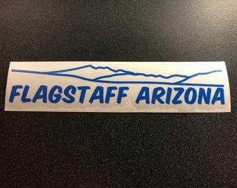 "Flagstaff Arizona Vinyl Sticker/Decal - .75"" X 5"""