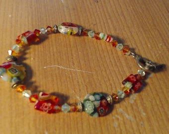 Glass lamp work bracelet
