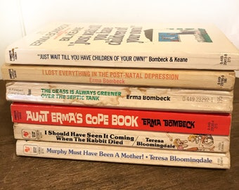 Vintage Erma Bombeck Book Collection Lot Of 6 Humorous Paperbacks