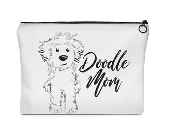 Doodle Mom - Carry All Pouch - Flat (2 Sizes) GoldenDoodle Doodle Dog, Bernedoodle, Labradoodle