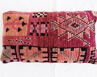 Violet Vintage Moroccan Pillow Cushion Cover Boujaad Kilim