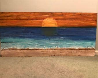 Hand painted pallet