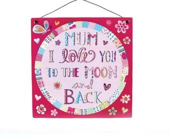 Nan/Mum Wall Plaque Sign