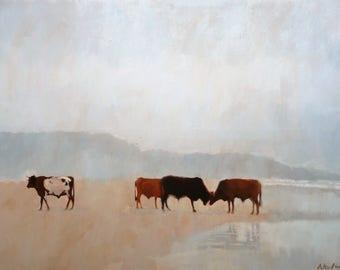 Oil painting seascape.