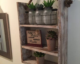 Distressed Rustic Bathroom Shelf Decor, Antique Style Bathroom Wall Decor, Bathroom Accessories, Home Decor