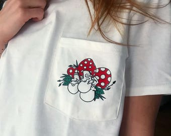 Shrooms Pocket Tee
