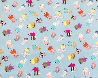 DIsney fabric peppa pig fabric peppa pig character fabric cotton fabric fabric by the yard disney cotton fabric cartoon fabric