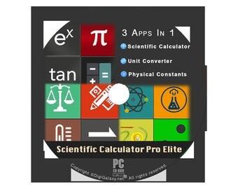 Scientific Calculator & Unit Converter Pro Elite for Windows PC (Orig)(CD)