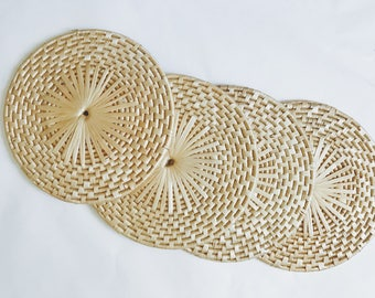 Set of Four Woven Placemats.