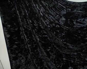 Black ice crush  stretch velvet, price 1 meter