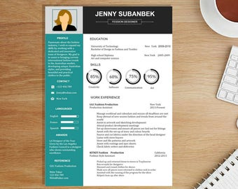 Resume Template / CV Template + Cover Letter for MS Word | Instant Digital Download  Professional and modern