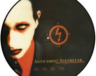 Rare Unplayed Pristine MaRiLyn Manson Picture Disc Vinyl LP AntiChrist Superstar (nothing NiN label) V V LTD ED 1998 original