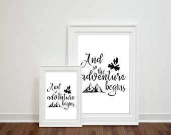 and so the adventure begins, digital quotes, instant download